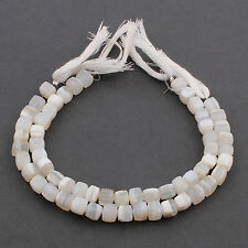 1 Strand White Agate Faceted Cube Beads Biolettes-6-8mm PB134