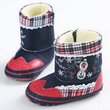 Xmas Gift Newborn Baby Winter Warm Fur Shoes Infant Toddler Girl Boy Snow Boots