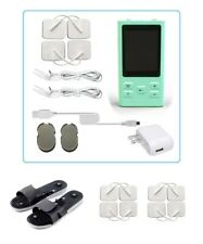 TENS Unit Tens Massager Digital Therapy Acupuncture Pads Machine TWO outputs E