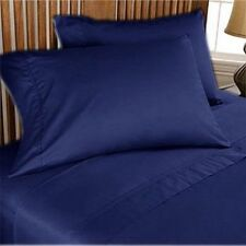 US-BEDDING COLLECTION 1000TC 100%EGYPTIAN COTTON NAVY BLUE SOLID US FULL SIZE