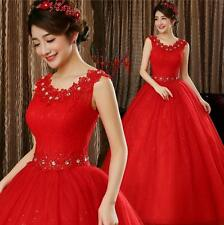 Red Lace Deco. Slim Fit Bridal Wedding Dresses Bride Wedding Gowns