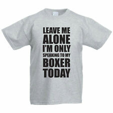 SPEAKING TO MY BOXER - Dog / Pet / Funny Gift Idea Children's Themed T-Shirt