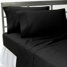 US-BEDDING COLLECTION 1000TC 100%EGYPTIAN COTTON BLACK SOLID US QUEEN SIZE