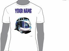KOOLART VW CAMPERVAN PERSONALISED NAME T-SHIRT GIFT CHRISTMAS PRESENT DESIGN 839