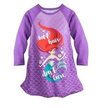 Disney Store Little Mermaid Ariel Princess NightGown Pajamas Size 4 Toddler NWT