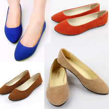 Comfort Women Casual Comfort Slip On Pointed Ballet Flat Shoes Womens Cute Work