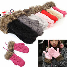 Wholesale Trendy Women's Winter Warm Knit Gloves Warmer Mittens Finger Gloves