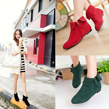 2017 Fashion Women Ankle Boots Martin Boots Low-heeled Zipper Bootie Stylish