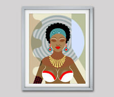 Black Woman Poster Painting African Queen Art Print African American Home Decor