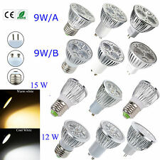 10PCS Ultra Bright LED Bulb 9W 12W 15W MR16 E27 GU10 White Spot Light Home Lamp