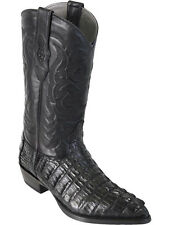 Men's Los Altos Genuine Caiman Tail Cowboy Boots J-Toe Handmade Wide (EE)