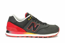 New Balance Mens Sneakers 574 Gardient Black Red ML574RAA