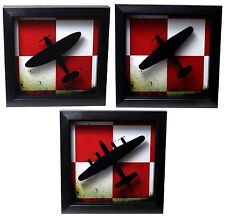 Polish Air Force Insignia Framed Picture - Spitfire Hurricane Lancaster WW2 RAF