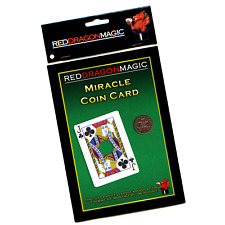 Miracle Coin Card - Easy Close Up Magic Trick - Bicycle Card Stock - SEE VIDEO