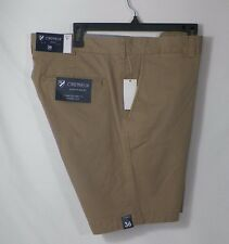 CREMIEUX SOHO MENS COTTON SLIM FIT FLAT FRONT SHORTS KHAKI SZ 36 ,38 OR 40-NWT