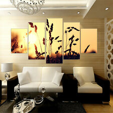 Canvas Wall Art Picture Flower Oil Painting Print for Living Room 5pcs No Frame