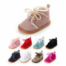 Infant Baby Boy Girl Winter Boots Toddler Kids Soft Crib Shoes Sneakers 0-18M