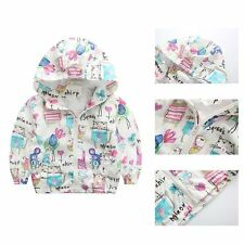 Cute Torddler Kids Boy Girls Animals Printed Jacket Coat Casual Hooded Outerwear