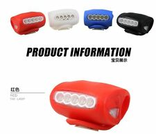 Cycling Bike Bicycle 7 Led 2 Flash Mode Super Frog Light Headlight 4 Color Choic