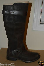 NEW UGG Australia DAYLE Tall Leather Lodge Brown Riding Boots Shoes $295
