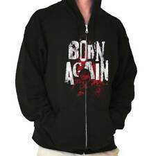 Born Again Zombie Humorous Funny T Shirt Novelty Fashion Gift Zipper Hoodie