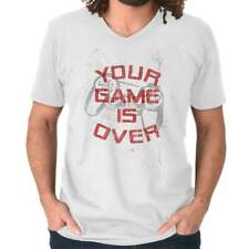 Your Game Is Over Controller Funny Picture Shirt Humorous V-Neck T-Shirt