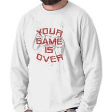 Your Game Is Over Controller Funny Picture Shirt Humorous Long Sleeve Tee