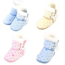 Baby Girl Boy Winter Warm Snow Boots Toddler Infant Soft Sole Shoes 6-12Month