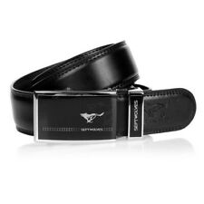 2016 New high quality Mens Belts Genuine Wolf Totem Black Leather All Size