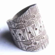 BEAUTIFUL RING FINE SILVER by KAREN HILLTRIBE GIFT SILVER THAILAND .US 8/P,Adj