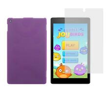 Purple TPU Skin Case and Screen Protector for Amazon Kindle Fire HD 8 2016