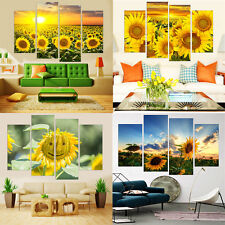 4Pcs Modern Painting On Canvas Art Sunflowers Wall Pictures Living Room No Frame
