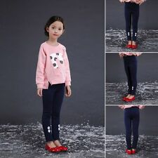 Kids Girls Winter Warm Flower Cotton Thick Stretch Skinny Casual legging Pants