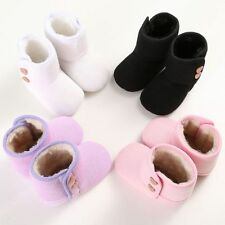 Infant Baby Girl Boy Winter Warm Fur Knitted Booties Crib Shoes Crib Snow Boots