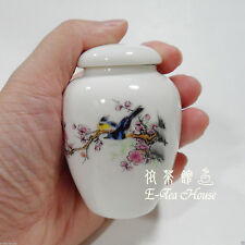 Mini Asian Chinese Porcelain Tea Leaf Container / Jar / Caddy / Canisters 5cm