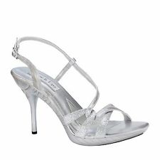 Touch Ups Fortuna Silver or Bronze Sandal, Special Occasion, Prom High Heels