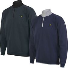 2017 Island Green Logo Chest Bonded Knit Sweater Mens Golf Thermal Pullover