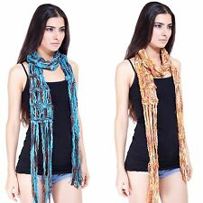 Women's Loose knit boho chic knitted scarf-41195