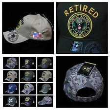 U.S. Army Cap Air Force Veteran Retired Military Hats License Caps Baseball Hat