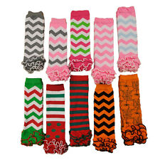 Cute Baby Toddler Girl Wavy Stripe Flower Leggings Socks Tights Arm Leg Warmers