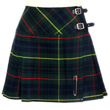 New Ladies Hunting Stewart Tartan Scottish Mini Billie Kilt Skirt Size 6-22UK