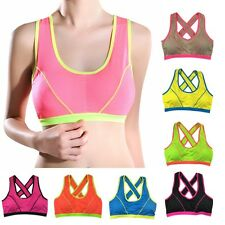 Seamless Racerback Sports Bra Yoga Bra Women Stretch Workout Top Tank Comfort