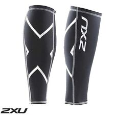 2XU Unisex Compression Black Calf Guards with Logo Running Recovery RRP$ 60