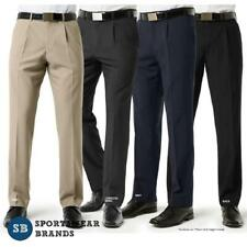Mens Single Pleat Front Pants Classic Trouser Work Business Corporate BS29110