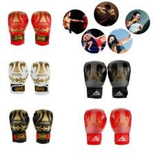 Leather BOXING GLOVES MMA UFC Muay Thai Grappling Pad Punch Bag Training Mitts