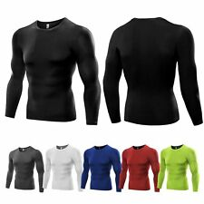 Mens Compression Under Base Layer Top Long Sleeve Tights Sports Running T-shirts