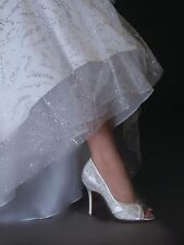 White Dyeable Autumn by Touch Ups, Bridal Pump with Sequins, Wedding Shoe, Bride