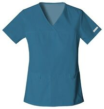 Cherokee Scrubs Flexibles V Neck Scrub Top 2968 Caribbean Blue