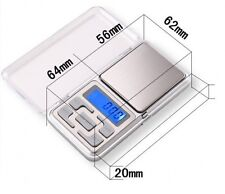 Pocket Digital Jewelry Scale Weight 100/200/300/500g x 0.01g 0.1g or calibration