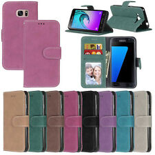 ID Slots Wallet Leather Flip Case Cover For Samsung S4 S5 S6 S6 Edge S7 S7 Edge